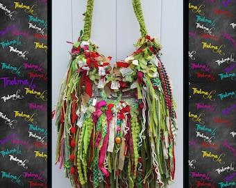 Fringe Handbag,Fringe Purse,custom made bag,handmade,unique,one of a kind