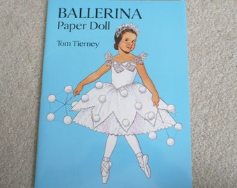 Ballerina Paper Doll by Tom Tierney for Dover Publications - Mint