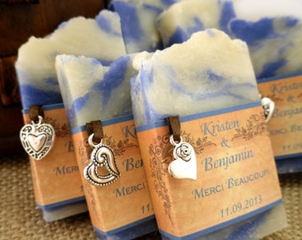 30 Handmade Vegan Soap Favors - Wedding Favors - Bridal Shower Favors - Made in 7 days