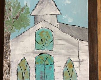 White Church Painting