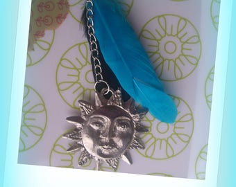 NECKLACE feathers and Sun style country