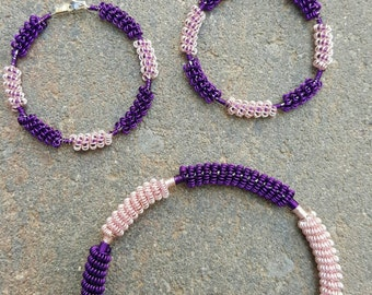 Coiled wire set - bracelet and earrings