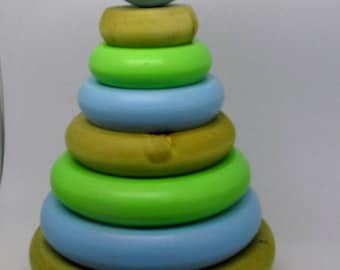 Wood Ring Stacker - Wooden Toys