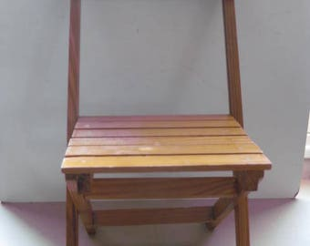 French wooden folding childrens chair.