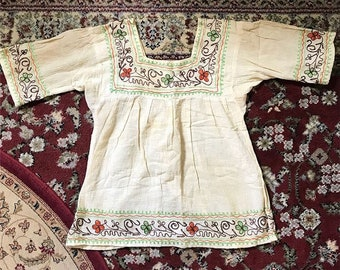 1970s indian gauze embrodiered too