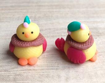 Miniature Chicken,Miniature Animal,Miniature Hen,Little Chicken,Dolls and Miniature,Dollshouse Chicken,Chick,DIY