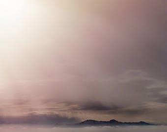 Dark Sun Flare Photograph, Antelope Island Utah, Photography, Digital Download Photography, Printable Art, Nature Photography,