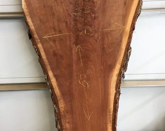 Live edge walnut slab