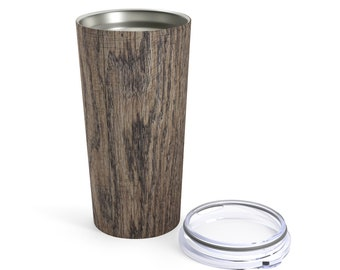 Dark Wood Printed Tumbler 20Oz