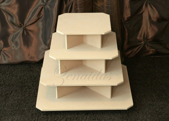how to make a 4 tier square wedding cake cupcake stand 4 tier square mdf wood 65 cupcake tower birthday 15788
