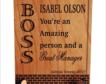 Gift for Manager - Boss Mentor Gifts Personalized - Boss Lady Gift - Boss Gift Female - Boss Gift Ideas, PBA007