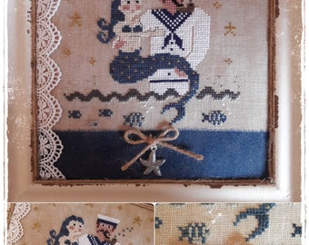 Mermaid and Sailor - PDF Cross Stitch Pattern