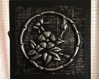 Flower Art - Embossed Metal Flower Art - Painted Floral Art - Handmade Embossed Metal Art - Embossed Flower Art - Embossed Floral Art