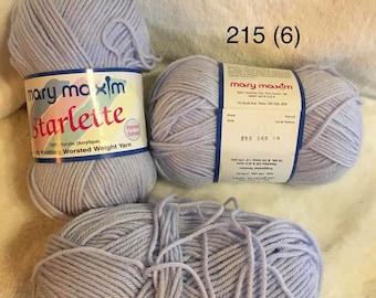 Yarn Mary Maxim Starlette Lavender Knit Crochet Fundraiser