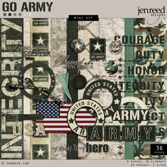 Us Army Digital Scrapbook Go Army Theme Paper Military Scrapbook