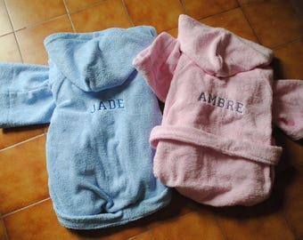 Customizable bathrobe kids age 4/8