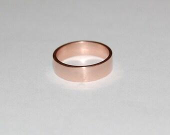 5mm 10kt Rose Gold Plain Wedding Band