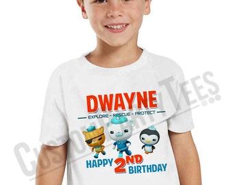 Octonauts Birthday Shirt Add Name & AGE Personalized Captain Barnacle Birthday TShirt