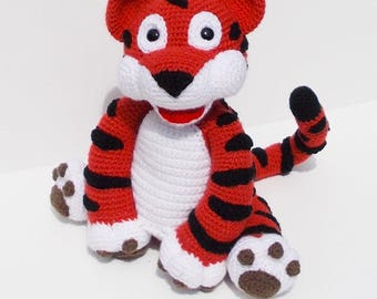 CROCHET pdf tutorial/pattern: Croc-cute little tiger