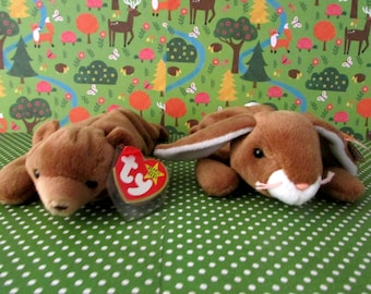 Ears and Cubbie Retired  TY Beanie Babies W/ Both Tags