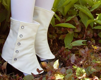 Ivory Short Spats - One Size Fits Most
