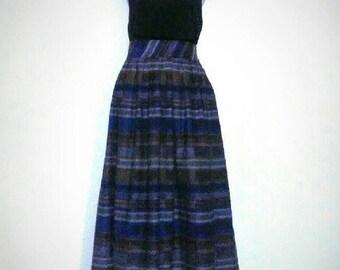 DIANE Von FURSTENBERG Plaid Tartan Wool Midi Skirt with Pockets Vintage Best Selling Items