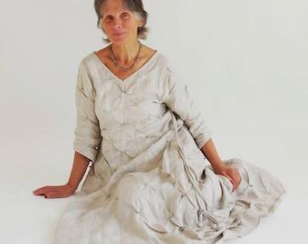Linen Dress / Linen Clothing / Long Dress for Women / Long Dresses / Dresses with Sleeves / Customm Dress for Women / Ladies Dress