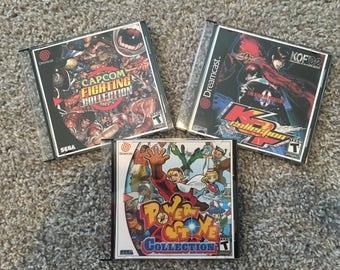 SALE!!! Sega Dreamcast Fighting Game Bundle- Marvel vs Capcom Street Fighter Powerstone
