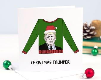 Donald Trump Christmas Card, Funny Holiday Card, Funny Christmas Card, Christmas Card Pack, Xmas Card, Donald Trump, Holiday Card Set, Pun