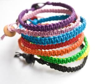 Friendship Bracelet Hemp Pick a Color Best Friend Woman Bracelet Man Bracelet, Hemp Bracelet