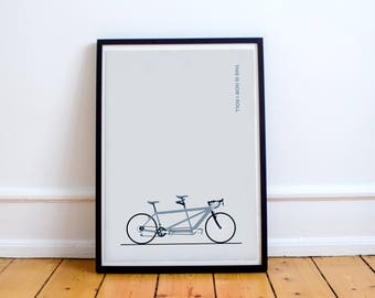 Tandem Bike Print - 'This is how I roll' - Digital Art Illustrated in the UK