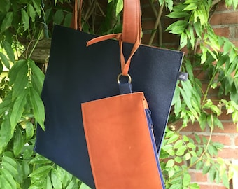 Dark blue Flat Bag