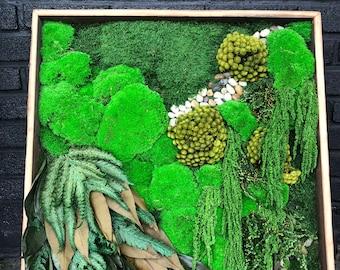 Lush Preserved Wall Garden