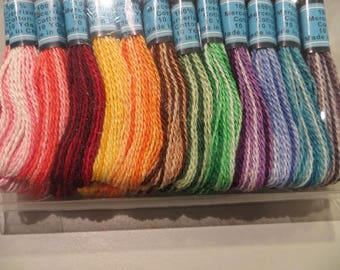 36 skeins of Mercerized cotton gradient, 12 colors