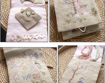 Chart Spring in the fields Stitching purse