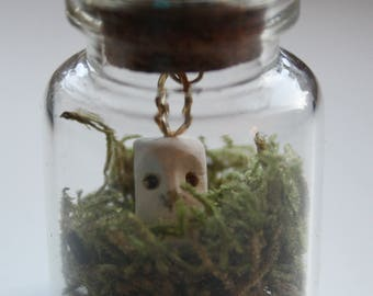 Mini owl in a bottle