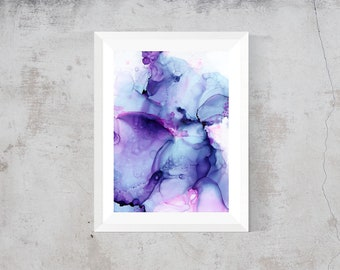 """Print of alcohol ink painting 