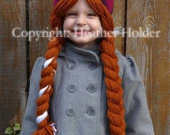 Anna (Frozen) Crocheted Hat Pattern - Instant Download