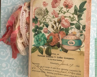 Tea Journal, Junk Journal, Tea Party Book