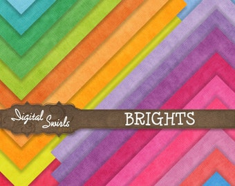 Plain Brights - Digital Paper Pack for card making, scrapbooking, invitations, printed products, commercial use