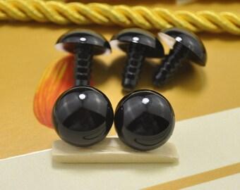 14mm 100pair(200pcs) Black Safety eyes Doll eyes Toy eyes Doll Parts Animal eyes Plush eyes Teddy Bears eyes Plastic eyes eye accessories