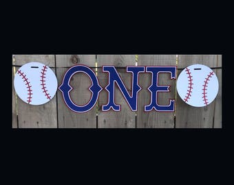 Baseball Birthday Banner | Baseball Highchair Banner | Baseball Banner | Highchair Banner | First Birthday