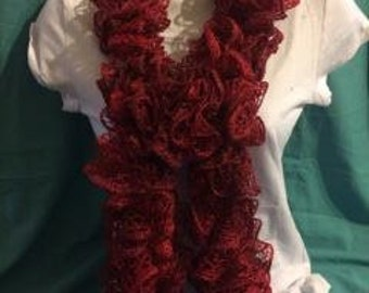 Lace Scarf -Red