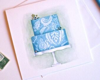 Jeweled Card WINTERGREEN CAKE