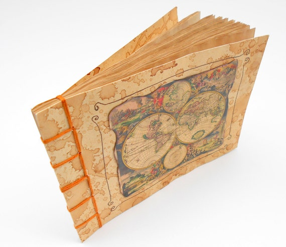 Map sketchbook journal with a vintage world map on the like this item gumiabroncs Choice Image