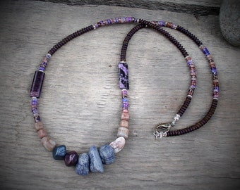 """This necklace is called """"Canyon Shadows"""". It features the shadow colors in our Colorado National Monument."""