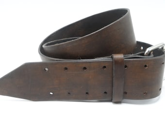 "Handmade Leather carpenter belt, personalized leather belt, customized leather belt, 2.5"" wide leather belt, tool belt"