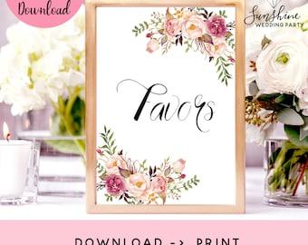 Favors Sign, Bridal Shower Sign, Wedding Favors Sign, Favors Printable, Favors Print, Wedding Favors Decor, Favours Sign, Marsala Favor Sign
