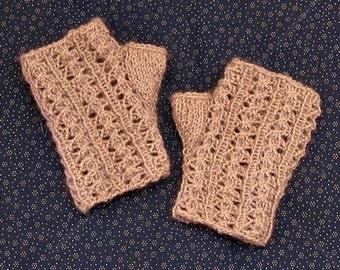 Lacy Wrist Warmers Knitting Pattern - PDF