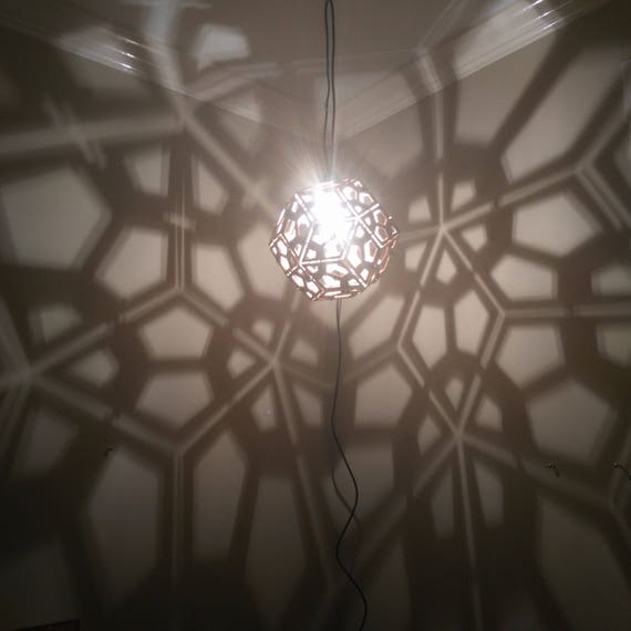 Rhombic Triacontahedron Lamp - Hanging Ceiling Pendant